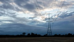 Windy (Brian Negus) Tags: timelapse cloud sky video timelapsevideo pylon cables electricity riversoar sunset wind