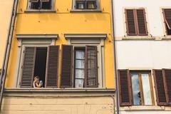 Watching (austinfloyd) Tags: florence window buildings city windows people watching apartment piazza santa croce firenze tuscany italy italia italian