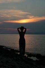 Sunset Vase Silhouette (benjamin.t.kemp) Tags: silhouette sunset colours colors colorsinourworld person vaseshape croatia