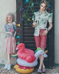 (mimiau_m) Tags: bjd asian doll zaoll luv 5thmotif venitu recast summer outdoors flamingo