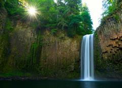 Abiqua Sunshine (Bill Young) Tags: abiqua waterfall basalt sunburst abiquafalls