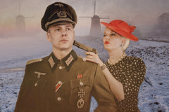 Fraulein, you've just signed your own death warrant. > In that case, I'd best make this slow. (sophie_merlo) Tags: war wartime resistance ww2 holland netherlands duo pair couple soldier