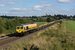 66413 Kings Sutton (Gridboy56) Tags: freight freightliner locomotive locomotives uk europe england diesel emd gm class66 shed kingssutton northamptonshire railways railroad railfreight trains train liner intermodal containers 66413 4m67 hamshall southampton