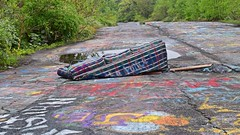 Abandoned couch on the Graffiti Highway (SchuminWeb) Tags: schuminweb ben schumin web may 2018 centralia columbia county pennsylvania pa graffiti highway state route 61 route61 graffitihighway abandoned road roads highways high way ways urban exploration urbex roadway roadways ghost town ghosttown alignment alignments coal mine fire towns spray paint spraypaint paints spraypaints tag tags tagged tagging infrastructure infrastructural infra structure structural couch couches furniture sofa sofas davenport davenports furnishing furnishings fold out foldout sofabed bed