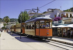Port De Soller tram (wilstony1) Tags: tram seafront portdesoller majorca mallorca sunny transport holiday panasoniclumixgx7