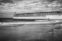 Tide coming in (Rich Presswood) Tags: fuji fujixpro2 mono monochrome mirrorless fujix bw blackandwhite black white whitby eastcoast seaside pier silverefexpro2 adobelightroom 7artisans 35mmf12