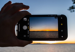 IPhone X sunset (LEXPIX_) Tags: sunset iphone ten iphonex cameraphone water sky lake orange adk framing lexpix