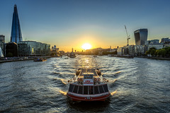Sunset View from Tower Bridge (stephanrudolph) Tags: water sun sunset boat ship d750 nikon handheld london uk gb europe europa england city urban 1424mm 1424mmf28g wideangle visipix visipixcollections