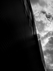 Remnants of the Typhoon (lesliegill) Tags: 2018 abstract architecture august blackandwhite hot iphone7plus japan minimalism shotoniphone summer