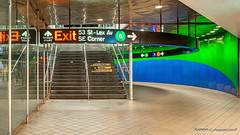 Manhattan, NY: Lexington Avenue & 53rd Street subway station (Lines 6, E & M) (nabobswims) Tags: highdynamicrange ilce6000 lightroom manhattan metro mirrorless ny nabob nabobswims newyork photomatix rapidtransit sel18105g sonya6000 station subway ubahn us unitedstates mta metropolitantransitauthority