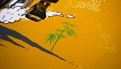 Ganja_detail (Rote-grafik) Tags: leroywallace rotegrafik georgechandrinos reggae poster reggaeposter reggaepostercontest roots ganja lion zion motorbike rastaman peaceful foxrecords jamaica thehorsemouth posterillustration illustration copicmarkers copic markers pencil reggaeflag