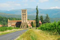 Abbaye de St MICHEL de CUXA (Josiane D.) Tags: abbaye church pyrenees france roussillon roman cuxa landscape