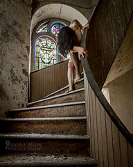 God of Broken Hearts (sadandbeautiful (Sarah)) Tags: me woman female selfportrait abandoned church
