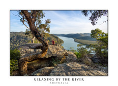Woman chillaxing with river views in Australian bushland (sugarbellaleah) Tags: female wilderness travel relax sitting views scenic tourism bushwalk hike adventure explore woman chillax unwind river nature bushland water pretty dappled landscape mountains rock outdoors outside freshair australia thisisaustralia trees high cliffs waterviews place destination holiday vacation camping wellness wellbeing healthylifestyle lifestyle active bush remote countryside vista