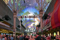Fremont Street Experence. Las Vegas. (Bernard Spragg) Tags: lasvegas travel usa crowds lumix lights party sightseeing nevada fremontstreetexperence lumixfz1000