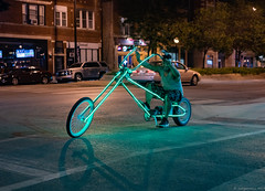 Irving Park, Chicago (piano62) Tags: streetscenes streetpeople streetportraits irvingpark chicago led chopperbicycle wild smiles crazy cruising beogradcafe endlessyouth sonya7rii sony55mmf18