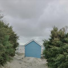 The Beach Hut (Deydodoe) Tags: sanddunes cloudy coast turquoise blue southcoast england unitedkingdom greatbritain seaside sand summer westsussex thewittering westwittering hut beachhut beach