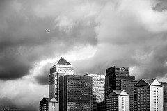 Big money? (The Frustrated Photog (Anthony) ADPphotography) Tags: canarywharf category citiestowns england london places travel blackandwhite mono monochrome whiteandblack bw canon1585mm canon550d canon buildings architecture architecturephotography travelphotography cityscape city capitalcity flight flying plane modernbuildings skyscraper officebuilding officeblock