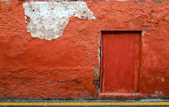 Red / Rojo (López Pablo) Tags: decay red white door wood urban lalaguna tenerife canary islands spain canon wall color yellow line powershot