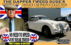 Dapper Tweeds Old cars part 3 (The General Was Here !!!) Tags: britain british scottish scotland uk yorkshire houndstooth canon nz vintage retro old car cars auto show parade rally jacket cap blazer coat man mens wearing fashion country outdoor wool made harris checked tweedcap tweedjacket madeinbritain kiwi newzealand woven poster sign dapper distinguished ride run textile plaid