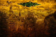 Twilight Hyrule (aurel_grand) Tags: château neuschwanstein allemagne germany hyrule zelda hdr retouche photoshop dark sinister color couleur jeu japan japon game sky ciel crépuscule twilight princess princesse monde fantasy imaginaire field legend epic castle wolf link midona deutchland fantastic fantastique gamer nintendo