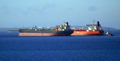 Oil tankers (stuartcroy) Tags: oil tanker ship scotland sony sea