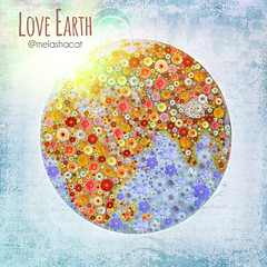 Blooming Planet Earth Illustration (Kseniya Polonskaya) Tags: planet earth ecology enviroment healthy life bloom clean flowers lawn meadow plant abstract art background cartography color creative design health environment environmentalist fruitful globe good green harvest idea illustration image investment map nature object organic recycling shape success symbol world ecologically flowering purity cleanness concept conception