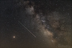 Mars, Meteor, Milky and Way (Rick Whitacre) Tags: mete meteors meteorshower perseidmeteorshower perseids milkyway mars