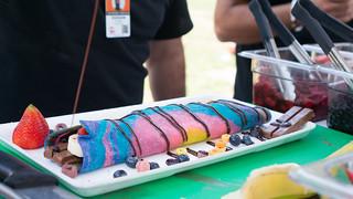 The Royal Crepe's Rainbow KitKat Crepe
