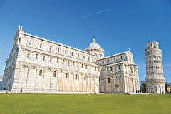 Pisa, Piazza dei miracoli. (Girolibero Easy Cycling Holidays) Tags: famous florence architecture art attraction balcony basilica building cathedral catholic christian church colorful construction culture dome duomo editable europe exterior heritage historic history holiday image italian italy landmark leaning marble medieval miracle monument perspective pisa religion renaissance render roman sight structure style tourism tourist tower travel tuscany view wonder