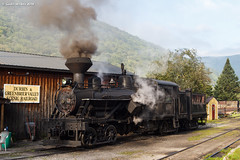 Waking Up (nrvtrains) Tags: westvirginia durbinandgreenbriervalley durbin heisler steam unitedstates us
