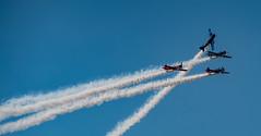 Einer muss immer Ausscheren (matthias_oberlausitz) Tags: jak jagdflieger kunstflug formation bautzener flugtage oberlausitz sachsen bautzen