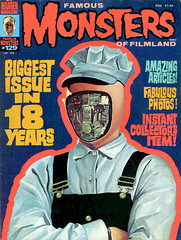 Famous Monsters #129 (1976), Futureworld cover by Ken Kelly (gameraboy) Tags: vintage famousmonsters 129 1976 futureworld cover kenkelly 1970s art illustration android