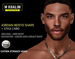 New Release: Jordan Bento Shape for Catwa - Stanley Head, Belleza and Signature body  Includes: Shape - Eyebrows - Styling Card (Matheus Khalim Photography) Tags: male mens shape shapes avi avatar second life sl secondlife blog mkshapes retrato