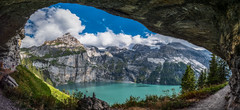 Oeschinensee (giampaolomagnani) Tags: panorama m43 panasonic lumix gh5 oeschinensee lake kanton bern switzerland clouds mountain