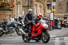 White knuckle ride ! Seen at Settle , Yorkshire - 2017 (I.T.P.) Tags: motor bikes settle york