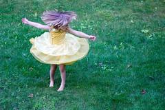 New dress (stephencharlesjames) Tags: child girl twirl dress belle princess dancing