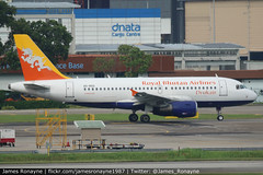 A5-RGG   Airbus A319-115   Druk Air - Royal Bhutan Airlines (james.ronayne) Tags: a5rgg airbus a319115 druk air royal bhutan airlines aeroplane airplane plane aircraft jet jetliner airliner aviation flight flying singapore changi wsss sin canon 80d 100400mm raw