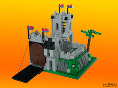 Micro King's Mountain Fortress 6081 (Liwnik) Tags: lego moc castle classiccastle 6081kingsmountainfortress microscale 6081 kings mountain fortress legomoc microbuild legomicroscale micro kingsmountainfortress