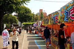 Marine day is real (j.farrimond) Tags: japan tokyo travel movement international festival food stalls marine shoppers eating colours colors banners excitement exploration canon l series