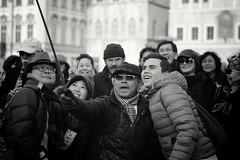 Cheese! (marcel.perik) Tags: tourists street photography selfie olympuspenf bw