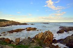 Summerbeach (marielledevalk) Tags: waves holiday southafrica hermanus weather sky clouds water rocks beach