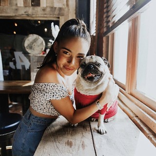 Madison Beer x Doug the Pug