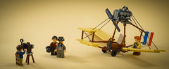 This thing is safe... Right? (Tino Poutiainen) Tags: lego legomoc legobuild plane 1800s old flight minifigure scale camera aircraft experimental engine france invention inventor europe world fair picture legography toyphotography