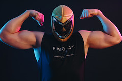 Pummeller Mexican Wrestler Pose (personaltrainertoronto) Tags: personal trainer fitness model fit muscles bodybuilder athlete athletic portrait pose mexican wrestler luchador biceps muscle arms