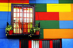 House Wall, Caminito Street, Buenos Aires, Argentina (klauslang99) Tags: klauslang house wall colour color colourful colorful window facade caminito street buenos aires argentina