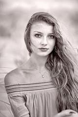 Summer Eyes (oshcan) Tags: portrait monochromia blackandwhite woman girl summer nikon d4s 85mm14