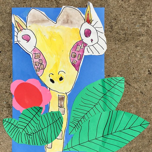 """1st grade African Giraffe Paintings #giraffe #drawing #painting #art #collage #1st #1stgrade #arteducation • <a style=""""font-size:0.8em;"""" href=""""http://www.flickr.com/photos/57802765@N07/43894773941/"""" target=""""_blank"""">View on Flickr</a>"""