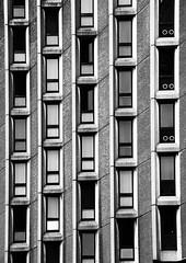 More Windows (Joseph Pearson Images) Tags: building architecture abstract brutalist brutalism london stgileshotel elsworthsykespartnership blackandwhite mono bw windows