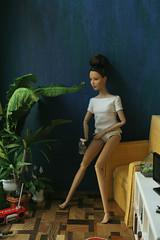 Watermelon (kinmegami) Tags: katnisseverdeendoll katniss doll diorama poppyparker roombox rement polymerclay